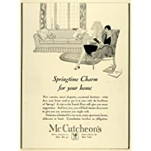 1928 Ad Interior Design McCutcheons Store Home Decor Curtains Drapery Furniture - Original Print Ad