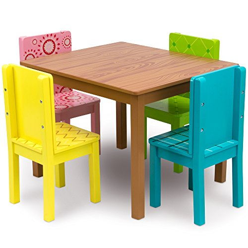 Funny Furniture Kids Wooden Table U0026 4 Chairs Set, Cartoon Inspired Designs  By Imagination Generation