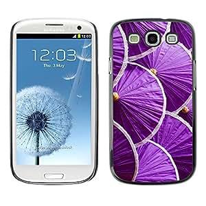 Paccase / SLIM PC / Aliminium Casa Carcasa Funda Case Cover para - Japan Minimalist Purple - Samsung Galaxy S3 I9300