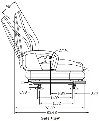 8175 New Universal Forklift Suspension Seat Toyota Nissan Clark Yale