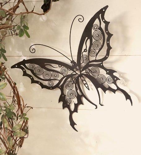 Iron Wall Sculptures - Iron Butterfly Wall Sculpture