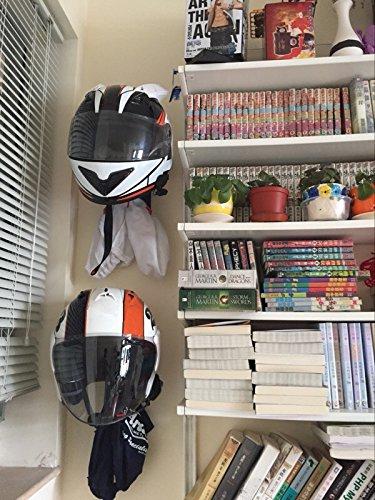 ILM Motorcycle Accessories Helmet Holder Hanger Rack Jacket Hook Gifts by ILM (Image #4)