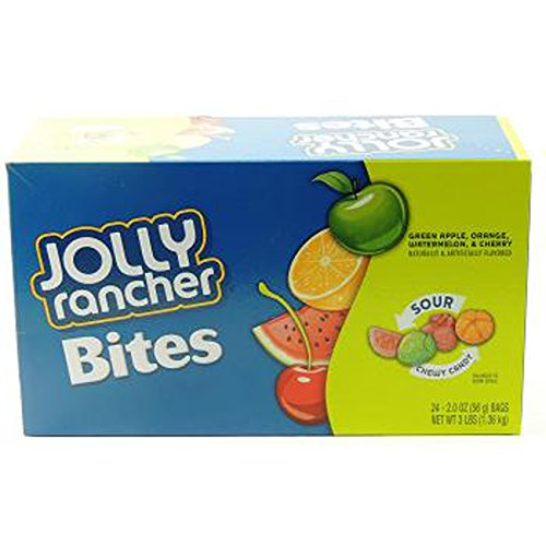 JOLLY RANCHER SOUR CHEW BITES 2 oz Each ( 24 in a Pack ) by Jolly Rancher
