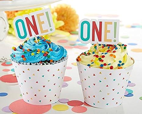 Kate Aspen 28273BL 1st Birthday Cupcake Kit