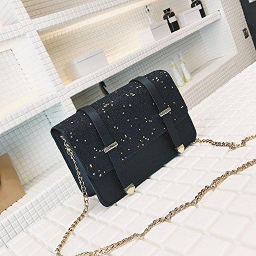 Bag Elegant Bags Sequined Messenger Bag Quicklyly Bag Women Shoulder Crossbody Shoulder Black 10w8da