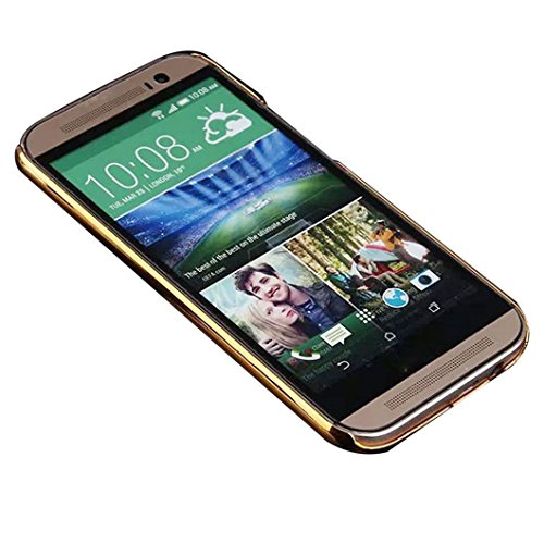 DZT1968(TM)Newest Luxury Crocodile Leather Back Case Cover Skin For HTC ONE M8 (A)