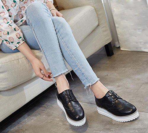 los CN39 zapatos Sra US8 zapatos elevador primavera zapatos fondo casuales otoño sueltos zapatos de pastel grueso UK6 de Sra del EU39 y La pPTBww