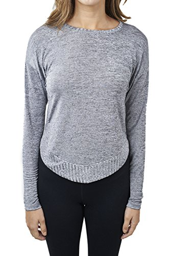 Joseph Ribkoff Silver Melange Knitted Sweater Top Style 171451 - Size 12