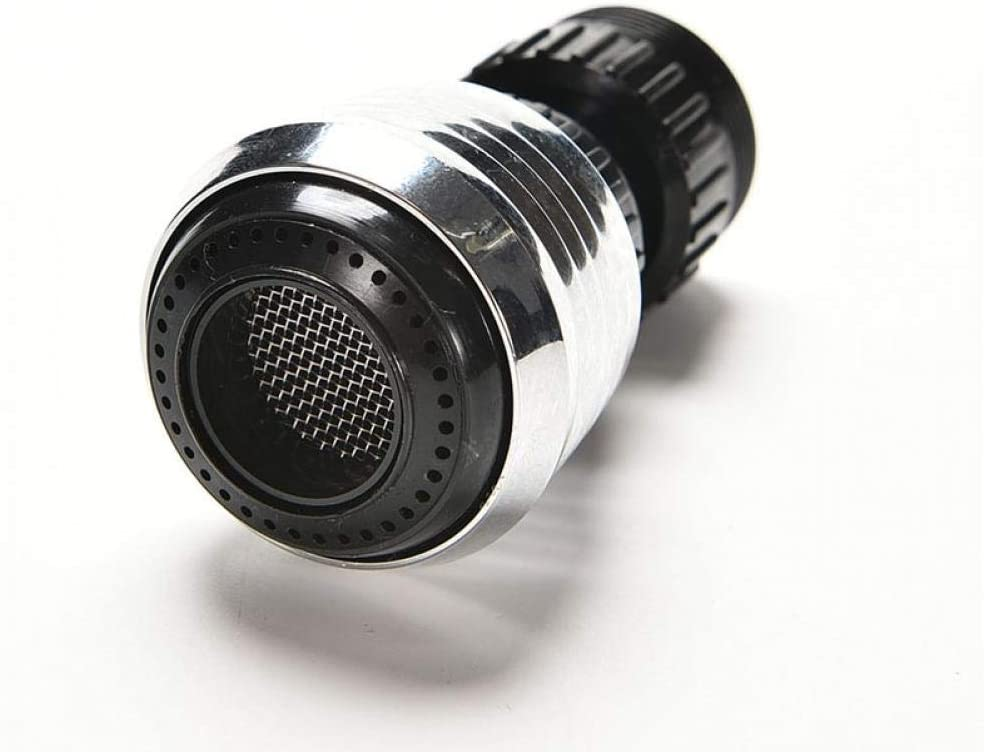 Onsinic 360 Degree Aerator Water Bubbler Swivel Head Tap Faucet Connector Diffuser Nozzle Filter Mesh Adapter