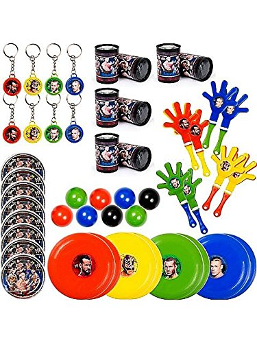 Amscan Unisex Adult WWE Party Favor Value Pack Multi-colored Medium by Amscan