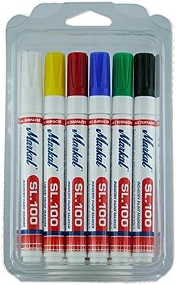 Markal 31200120 SL.100 rotuladores, Kit 6 colores, punta redonda ...