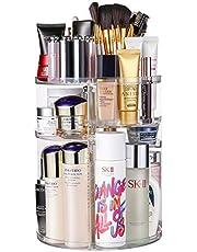 Vagalbox Organizador de Maquillaje, Organizador Giratorio de Tocador y Caja de Almacenamiento, Organizador Giratorio de 360 ° para Baño, Se Adapta a Pinceles de Maquillaje, Barras de Labios, Redondo