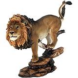 "10 3/4"" Pride Rock King of The Jungle Savannah Lion Wildlife Home Statue Simba"