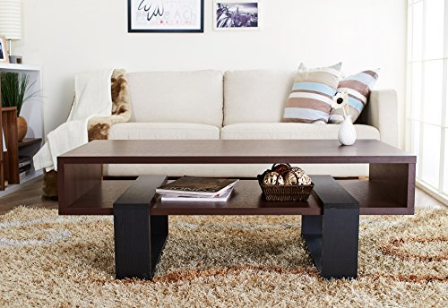 ioHOMES Monroe Rectangular Coffee Table, Walnut and Black by HOMES: Inside + Out (Image #4)