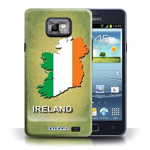 Kobalt® Imprimé Etui / Coque pour Samsung Galaxy S2/SII / Irlande/irlandaise conception / Série Drapeau Pays