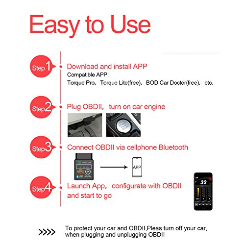 obdator Car Bluetooth OBD OBD2 Scanner Code Reader HH