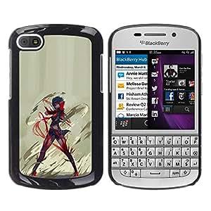EJOY---Cubierta de la caja de protección la piel dura para el / BlackBerry Q10 / --Anime héroe