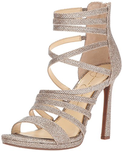 Jessica Simpson Women's Palkaya Pump, Gold Mesh, 6 Medium - Gold Jessica