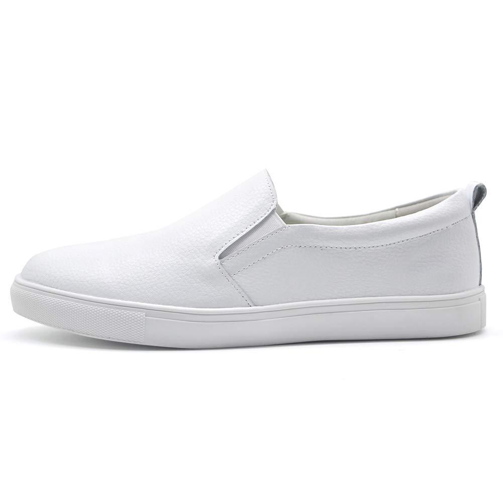 HKR Slip On Sneakers for Women Comfortable Work Walking Nursing Shoes 7.5 US White(FY505baise39)