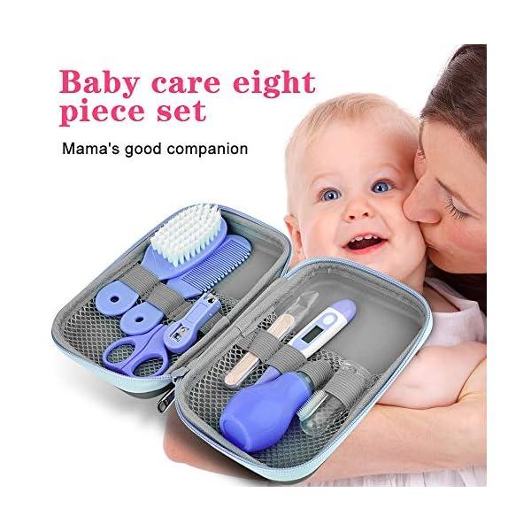 Kit per la Cura del Bambino Forbicine Neonati Kit Manicure Neonato Tagliaunghie Neonato Set Neonato Igiene per la cura… 7