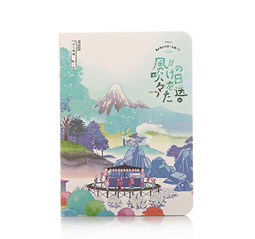 Japanese Style Cherry Blossom Printing Artist Painter Sketch Book Blank Paper Notebook Diary Book (Pattern 5)