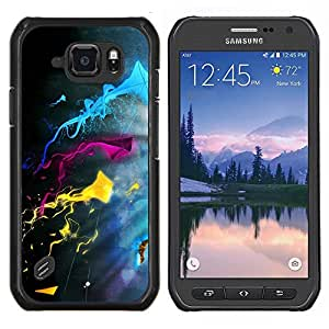 TECHCASE---Cubierta de la caja de protección para la piel dura ** Samsung Galaxy S6 Active G890A ** --Color Splash