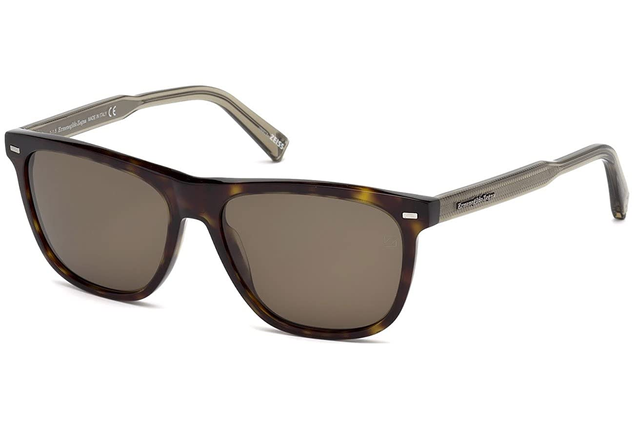 45a650941 Amazon.com: Ermenegildo Zegna - EZ0041, Wayfarer, acetate, men, HAVANA/ROVIEX  POLARIZED(52M), 57/16/145: Clothing
