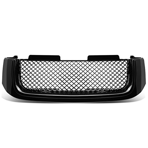 Envoy Denali Grill - For 02-09 GMC Envoy/XL ABS Plastic Bentley Style Mesh Front Bumper Grille (Black) - 2nd Gen