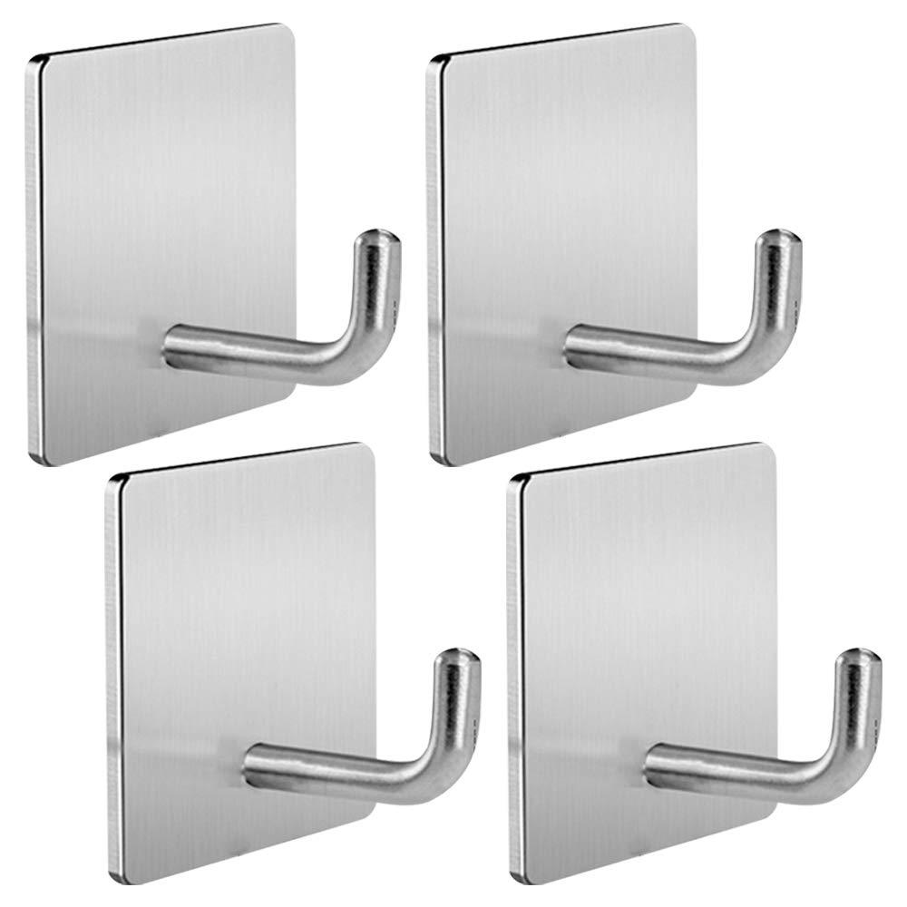 N2 Self Adhesive Hooks Heavy Duty Removable Wall Hooks Stainless Steel Waterproof