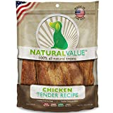 Loving Pets Natural Value All Natural Soft Chew Chicken Tenders Dog Treat, 14-Ounce
