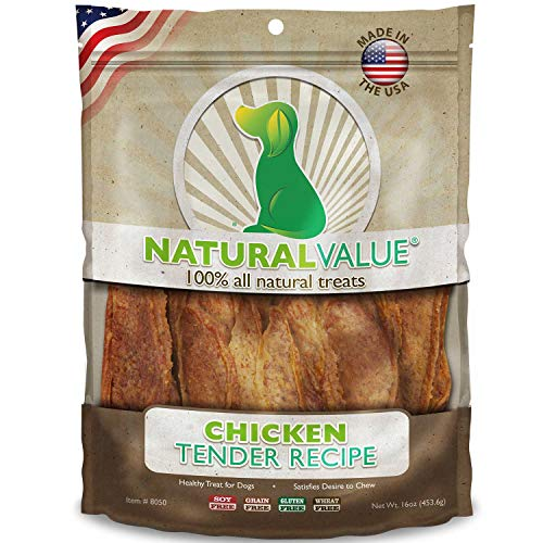 Loving Pets Natural Value All Natural Soft Chew Chicken Tenders Dog Treat, 14-Ounce by Loving Pets