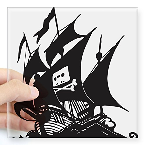 CafePress - Pirate Bay Sticky Ship Sticker - Square Bumper Sticker Car Decal, 3