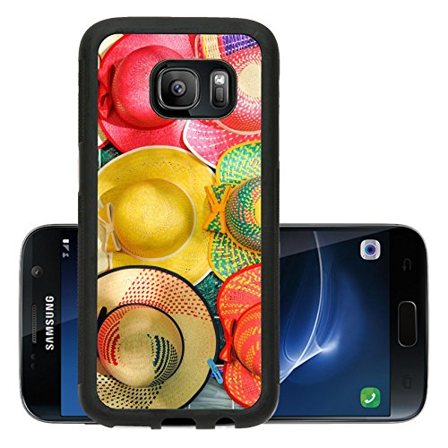 Liili Premium Samsung Galaxy S7 Aluminum Backplate Bumper Snap Case Colorful Handmade Hats by the yucatan mayans descendants IMAGE ID 18998225
