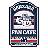 WinCraft NCAA Gonzaga University 84560012 Wood Sign, 11'' x 17'', Black