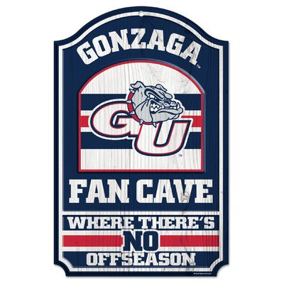 WinCraft NCAA Gonzaga University 84560012 Wood Sign, 11'' x 17'', Black by WinCraft