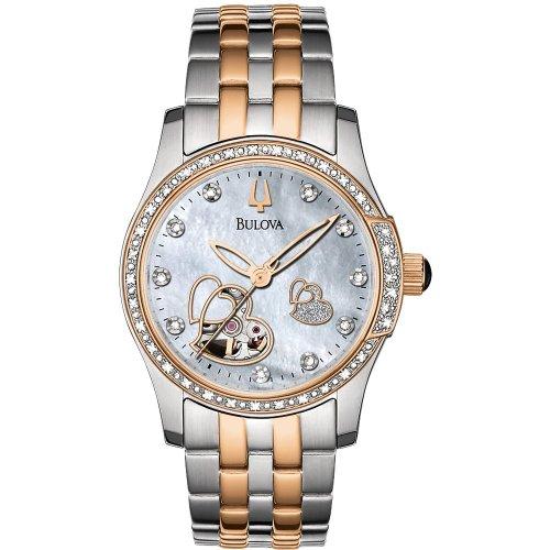 Bulova 98R154 Ladies Mechanical White Watch