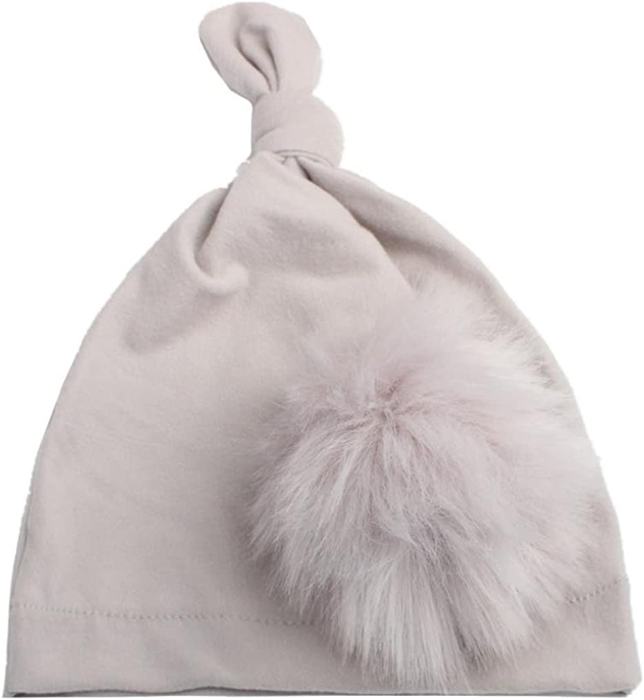 Inkach Cute Toddler Baby Girls Beanie Hats with Pom Pom Winter Warm Caps Winter Hats