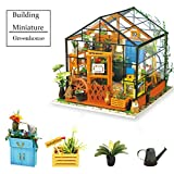ROBOTIME DIY Green House - DIY Kit Miniature Doll House to Build with LED Light - Furniture Renovation Toys for Kids - Mini Diorama House with Accessories - Creative Birthday Christmas Gift