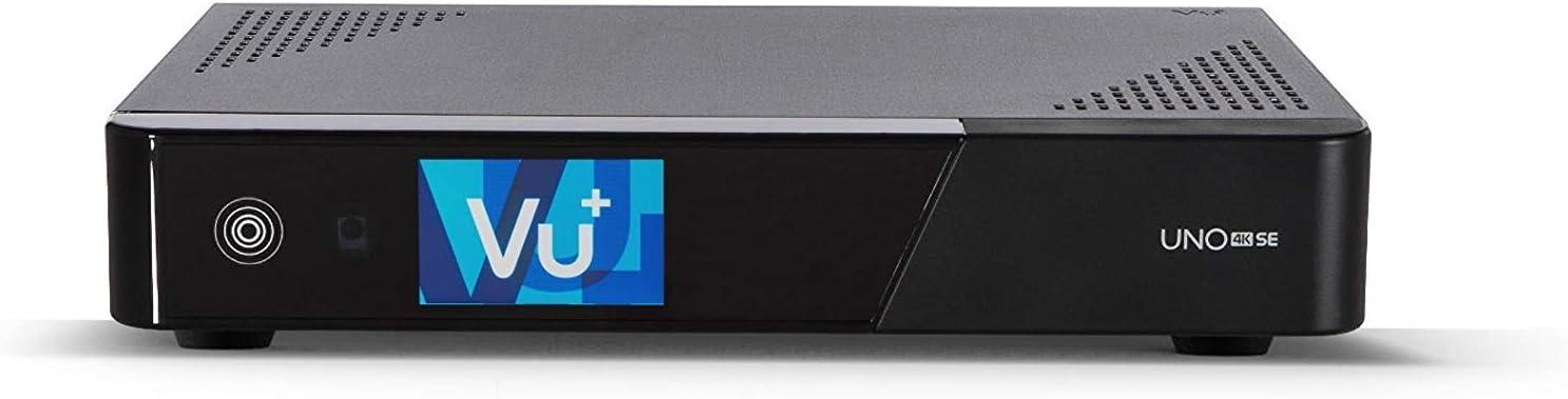 VU+ Uno 4K SE Twin Tuner Linux - Sintonizador Receptor (UHD, 2160p), Negro