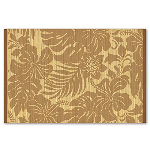 Welcome to the Islands Hawaiian Style Bamboo Placemat Hibiscus Floral Coffee Set Of 4 by Welcome to the Islands