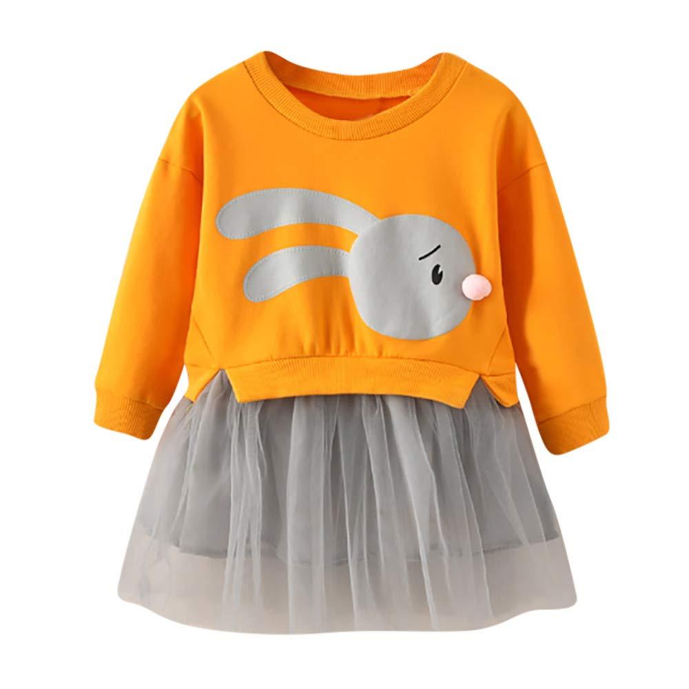 Amlaiworld Vestido de ni/ña Ni/ños ni/ña beb/é de Dibujos Animados Conejito Princesa Remiendo Sudadera Vestido de Tul Ropa Vestido de Fiesta ni/ñas Camiseta Camisas
