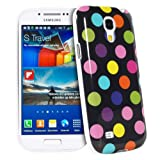 Fosmon DURA-POLKA Series SLIM-Fit Case Protective Skin Cover for Samsung Galaxy S4 Mini i9190 / i9195 (Black/Rainbow)
