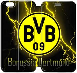 iPhone 6 6S plus 5.5 inch Cell Phone Case Borussia Dortmund BVB 09 FC Logo Colorful Printing Leather Flip Case Cover 3ERT492677