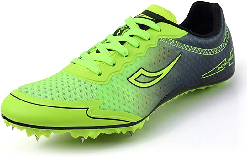 Womens Lightweight Track /& Field Shoes Spikes Running Track Shoes for Kids Men