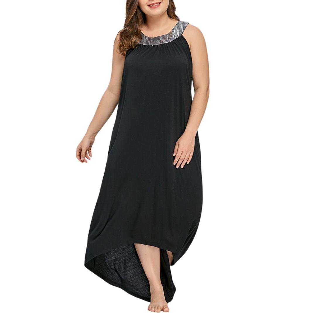 Übergröße Kleid Kolylong® Damen Elegant Pailletten ...