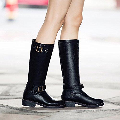 Botas De Montar A La Rodilla Shoen Tale Para Mujer Hasta La Rodilla Con Hebilla Negra