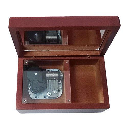 18nota Wind-up Caja de música de madera, pequeño tamaño, color café de almacenamiento Caja de música, Lilium de Elfen...