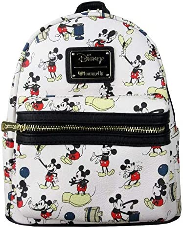 Loungefly Mickey Balloon AOP Mini Backpack