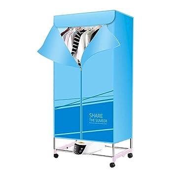 Secadora de Ropa portátil Calentador 1300W tendedero eléctrico Plegable de Aire Caliente pequeña Secado rápido con Control Remoto (Color : Azul): Amazon.es: ...