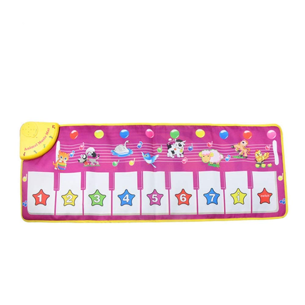 Play Keyboard Mat Animals Girls Electronic Musical Keyboard Playmat 43 Inches 9 Keys Foldable Floor Keyboard Piano Dancing Activity Mat Step And Play Instrument Toys For Toddlers Kids Children's Gift by GAOCAN-gq (Image #2)